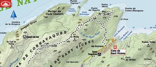 Serra de Cornavaques Recorrido A