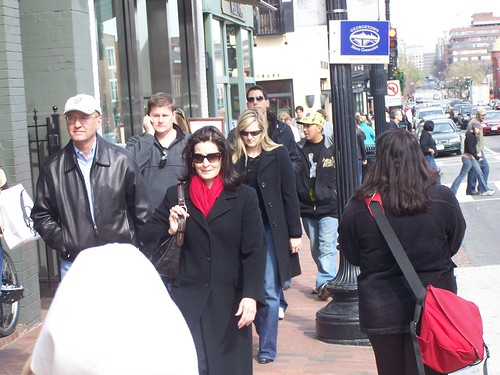 People walking on M Street NW, Georgetown