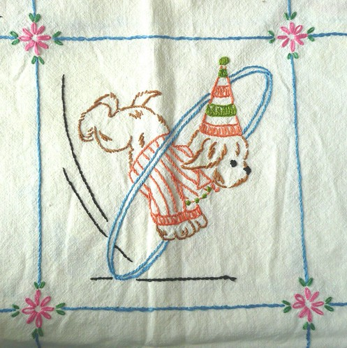 Circus Dog Embroidery