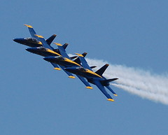 Blue Angels (iSteveMD) Tags: show blue sky by md nikon close smoke air side navy formation explore angels annapolis f18 usna 2007 navalacademy fa18 naptown stevepoole spoole2gmailcom