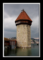 Water Tower-Lucerne-9146 (Barbara J H) Tags: switzerland europe watertower lucerne jh barbaras reussriver riverreuss globustours globustour holdiaybarbara glimpseofeuropetour