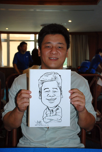 Caricature live sketching Temasek Fun Day 6