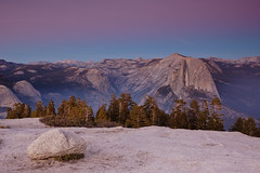 Half Dome and Earth Shadow (Tyler Westcott) Tags: california halfdome yosemitenationalpark beltofvenus sentineldome earthsshadow earthshadow nikond40
