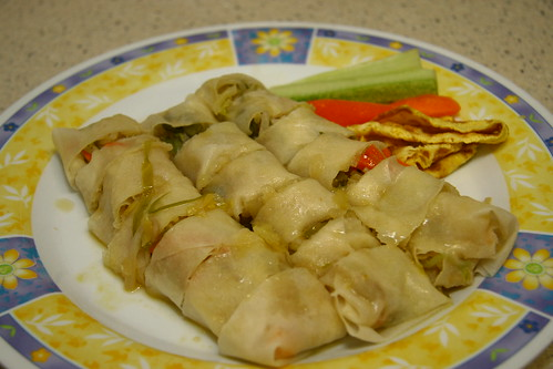 Popiah is served~