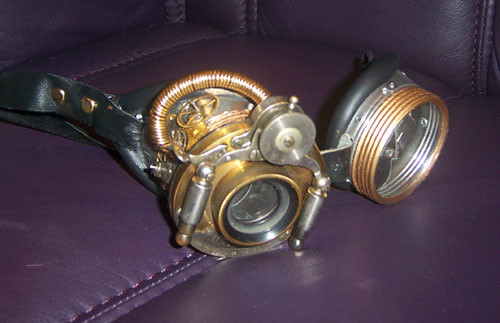 Steampunk Goggles / lilibat mistress of Antimony & Lace