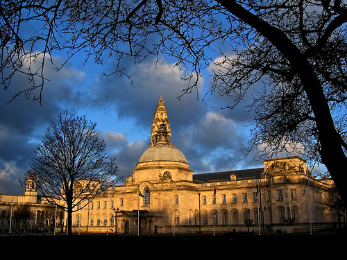 Cardiff City Hall At Dawn