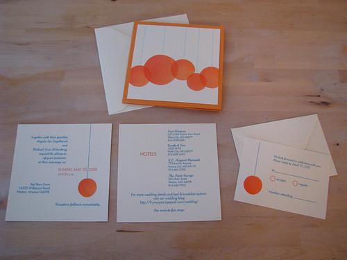 Orange Wedding Invitation Set
