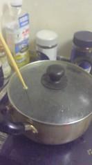 鍋のお湯を沸騰させる