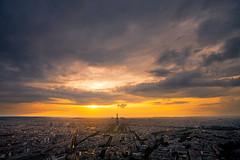 Paris (Aur from Paris) Tags: city sunset sky panorama paris skyline clouds landscape town bravo toureiffel vue soe ville tourmontparnasse themoulinrouge eos5d aur twtmeiconoftheday theunforgettablepictures