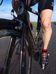 Out for an evening spin (fenlandsnapper) Tags: 15fav bicycle cool leg pedalling ricohgrd almostaselfportrait specializedbgproshoes demarchicyclingshorts planetxprocarbon50wheels guessrb1