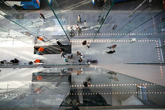 Looking down from the 2nd floor to the ground (dreadfuldan) Tags: apple retail macintosh mac sydney applestore sydneyapplestore applestorestydney