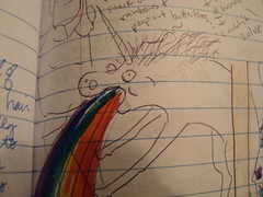 maff book 015 (jcq_jacque) Tags: drawings unicorn puking