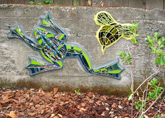 Bee and Frog (Kim Larson Art) Tags: california glass oakland mural san francisco artist mosaic frog bee frogmosaic gardenmosaic