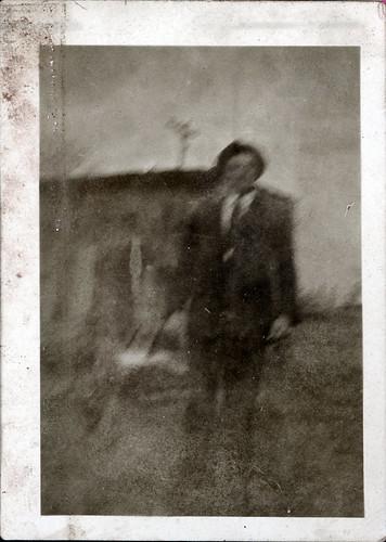 One man - blurry