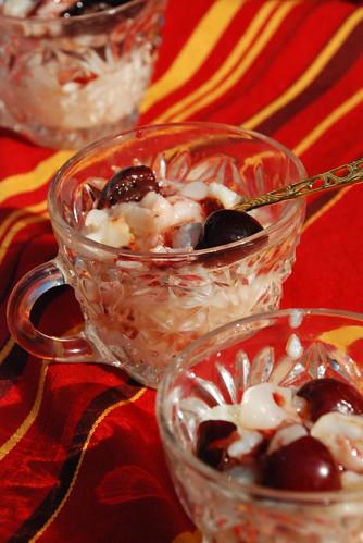 Cherry Lychee Rice Pudding