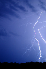 The Edge (battlekitty) Tags: blue white storm clouds power tennessee lightning cloned thunder lightningstrike photoshoppery
