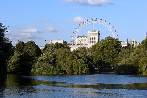 A London Eye e o parque / The London Eye and the Park