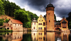 mespelbrunn (Wolfgang Staudt) Tags: travel reflection tower beauty germany bayern deutschland nikon europe cloudy tripod sunday sigma clear reflexions renaissance soe hdr mespelbrunn wasserschloss wassergraben spessart travelphotographie watercastle wolfgangstaudt colorphotoaward colourartaward nikond300 mespelbrunncastle artinoneshot wasserschlossmespelbrunn elsavatal reisefotograie