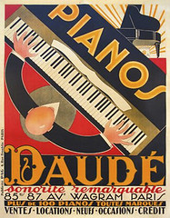 vintage posters Pianos Daude (vintageposters) Tags: original red music man black paris art yellow vintage advertising french gallery 1st piano william company posters pianos edition payne wagram daude sonorite