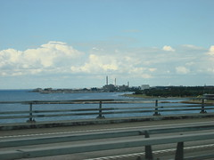 Malmö in sight (individual8) Tags: bridge sweden shoreline july autobahn malmoe 2008 turningtorso oeresund