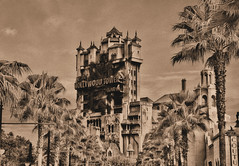 Disney - The Hollywood Tower Hotel - November 1, 1939 (Express Monorail) Tags: world usa sepia vintage palms wonder hotel orlando raw nef ride florida magic january wed disney mickey haunted palmtrees disneyworld fantasy hollywood mickeymouse imagine oldphoto theme imagination wish orangecounty nikkor wdw waltdisneyworld studios walt 2008 mgm magical kissimmee themepark 1939 attractions waltdisney sunsetboulevard hollywoodtowerhotel mottled twilightzonetowerofterror wdi lakebuenavista imagineering disneysmgmstudios waltdisneyworldresort 18135mm thehollywoodtowerhotel disneyparks nikond40 rawtherapee disneyride waltdisneyimagineering waltereliasdisney disneyshollywoodstudios paintshopprophotox2 disneyicon eticketattraction november11939