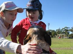Charlie with my friends Amelia & Teasha