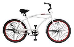 Men's white with Red Rim Beach Cruiser  at http://bikes-cheap.com (williamkirk777) Tags: beach bike bicycle losangeles value cheap cruiser bikeshop 14995 cheapbeachcruiserbike