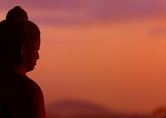 Buddha statue at sunset, Borodur temple, Java, Indonesia (Eric Lafforgue) Tags: sunset sun statue indonesia java asia buddha asie indonesie indonesi indonesien borobodur  indonsie  indonezja lafforgue indoneesia   endonezya indonezija    indonzia indonezia 704479 indnesa  indonzija indonezio indoneziya indonisa
