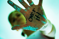 OVER IT!!!!! (jenn (AKA 57mondays)) Tags: selfportrait painting 365 overit 60mmmacro fgr flickrgrouproulette 365ngwc letyourbodytalk day89ngwc