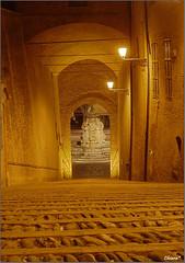 Scalinata in HDR (Chiara M.) Tags: san 10 agosto lorenzo 2008 notte hdr rocca piazzadelpopolo cesena scalinata photomatix fontanamasini