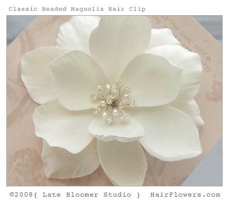 Magnolia Flower Hair Clip