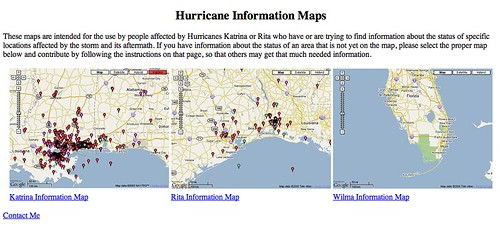 Hurricane Maps Mashups