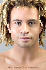 Jordy (skinr) Tags: shirtless guy lasvegas headshot facialhair performer curlyhair beautyshot jordy malemodel studiolighting blondhair sirensofti sirensoftreasureisland wwwjskinnerphotocom jasonjamesskinner lasvegasdancer