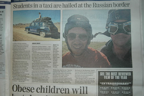 Team Desertaxi and Taxistan in the London Evening Standard