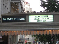 Billboard at Warner (Make Lemons) Tags: dc solo 2008 eddievedder warnertheater