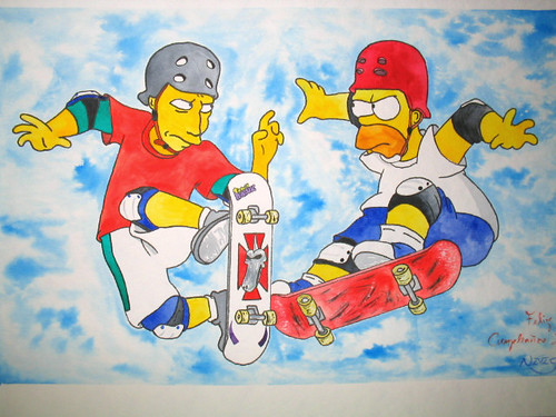 Tony Hawk vs. Homer Simpson