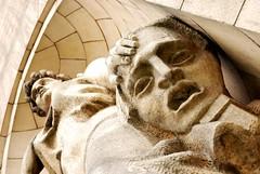 Muse of Tragedy (Pawel Sawicki) Tags: sculpture woman architecture mask theatre poland polska muse warsaw warszawa pkin teatr rzeba architektura muza maska paackulturyinauki palaceofcultureandscience kobieta pawesawicki