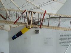 Modell Heckansicht: Wright Flyer