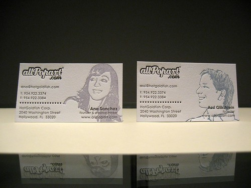 allPopart.com Letterpress Business Card Set