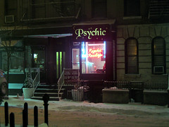 New York. West 56th Street. Psychic Readings. Snowy (by Tomás Fano)