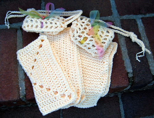 Cloths and Soap Holders in Knit and Crochet