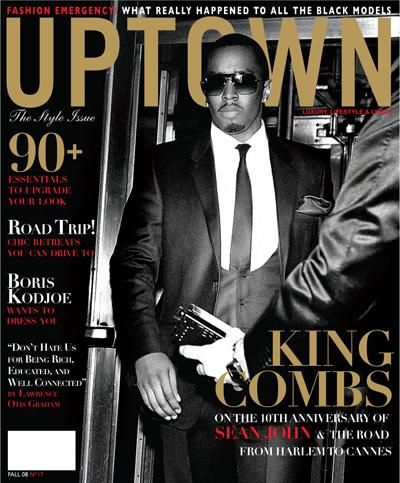 diddy on the cover of upton magazine