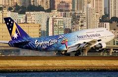 "Boeing, 747-312, VH-INJ, ""Ansett Australia"", VHHH, Kai Tak, Hong Kong (Daryl Chapman Photography) Tags: classic hongkong boeing 747 kaitak ansett"