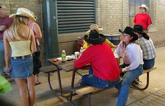 Before the Rodeo (phool 4  XC) Tags: people toronto canada cowboys relaxing hats cne cowgirls 2008 canadiannationalexhibition بيتربروباخر phool4xc