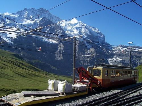 Jungfraubahn maintenance locomotive at Kleine Scheidegg