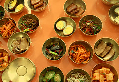 Open the bowls (ShanLuPhoto) Tags: food lunch day kim flag north games korea il communism national gymnastics leader mass dear socialism jong banchan pyongyang sung dprk  kaesong