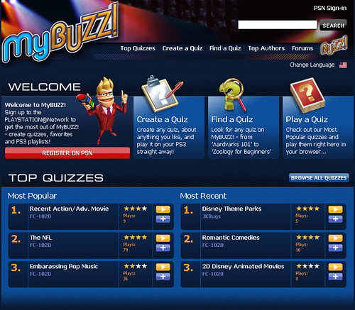 MyBUZZ! Main Page