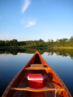 Canoeing Mirror Lake