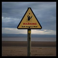 Quicksand! (frog lolly) Tags: beach sign warning coast mud somerset stickfiguresinperil warningsign burnhamonsea quicksand burnahamonsea warningsoftsandandmud