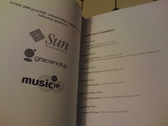 ISMIR Sponsorship page (PaulLamere) Tags: 2008 ismir ismir2008